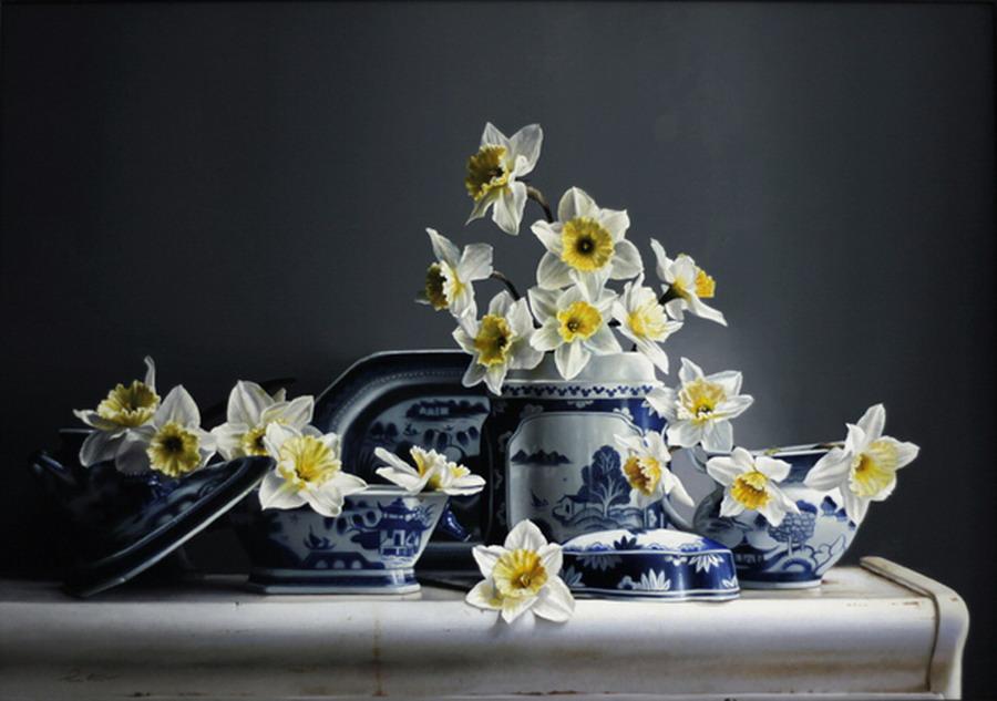 Jarrones Blancos Decorados Con Flores