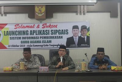 Inovasi Baru, Kemenag Tanjungbalai Launching Aplikasi SIPGAIS