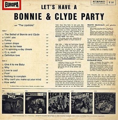 The Lipsticks – Let's Have A Bonnie & Clyde Party