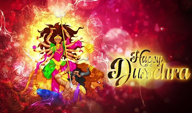 Happy Vijayadashami /Happy Dussehra greetings HD Wallpaper