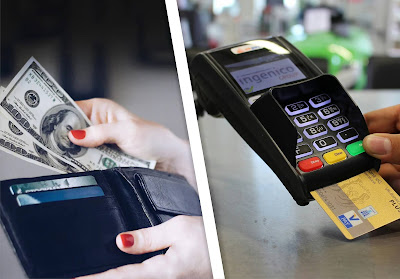 pay cash or through card