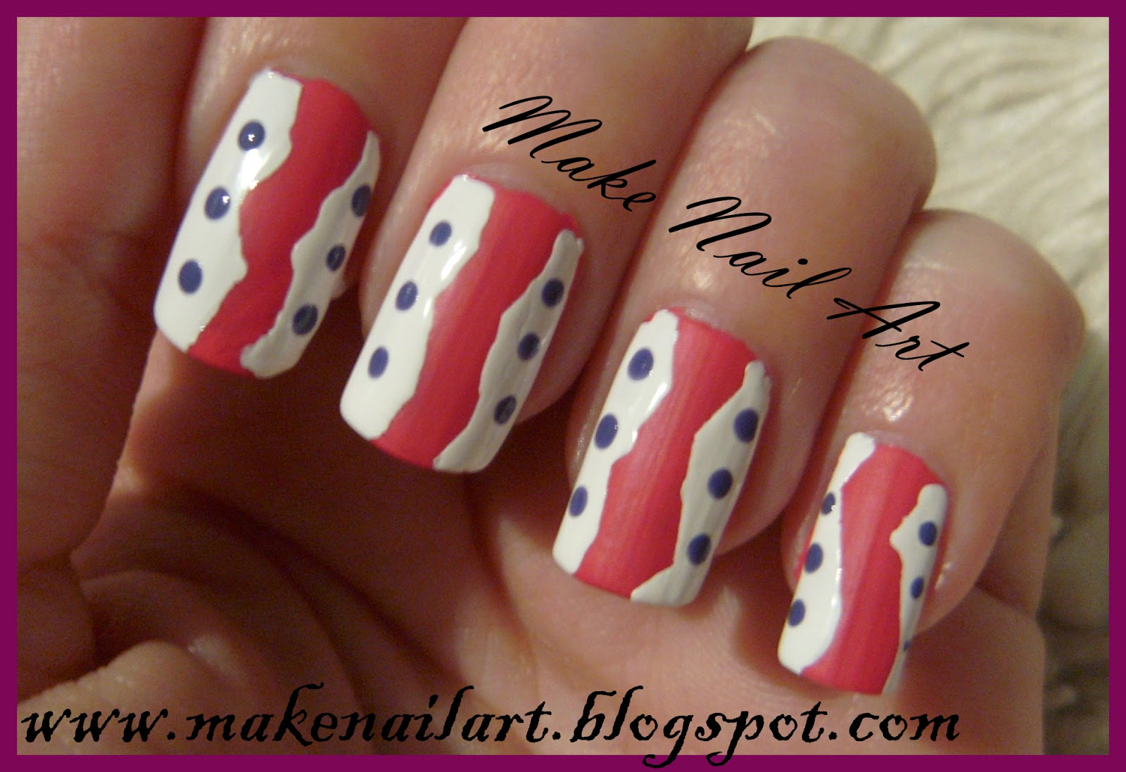 Make Nail Art Nail Art Tutorial For Everyday With Dots And Scotch Tape