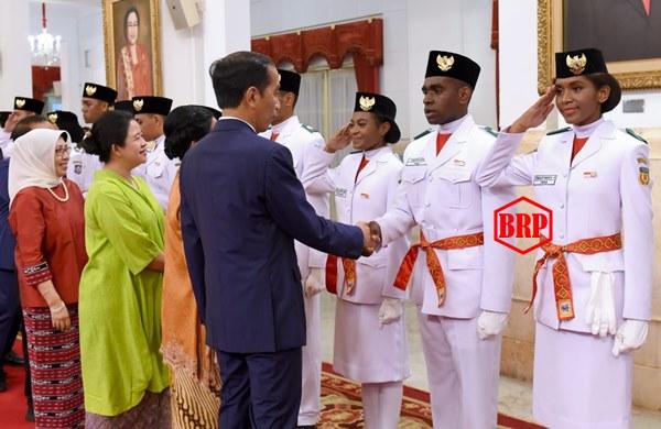 Presiden Jokowi Kukuhkan Anggota Paskibraka 2019 di Istana Negara