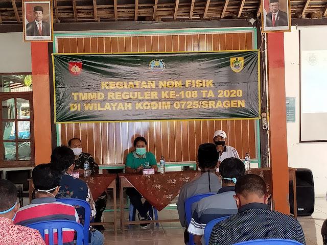 Kodim Sragen - TMMD Reg 108 Kodim Sragen Program Nonfisik Hadirkan Dokter Dari Dinas Kesehatan Kabupaten