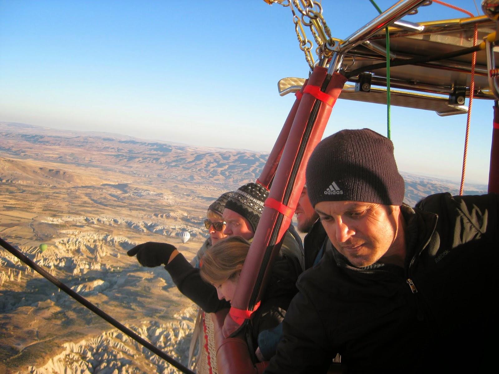 Cappadocia - Our pilot keeps us on course