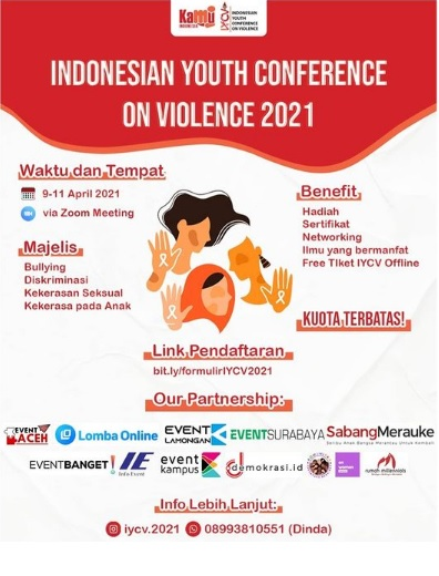 Indoensian Youth Conference On Violence 2021 total Hadiah Rp 10 Juta