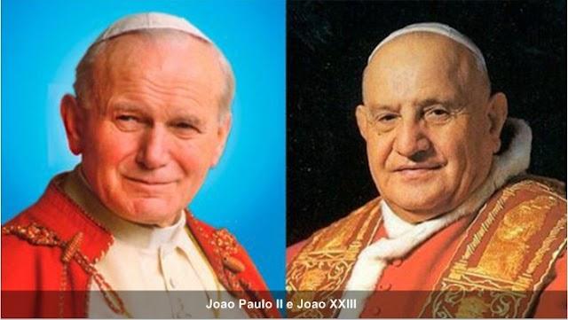 São João Paulo II e São João XXIII: santos há sete anos