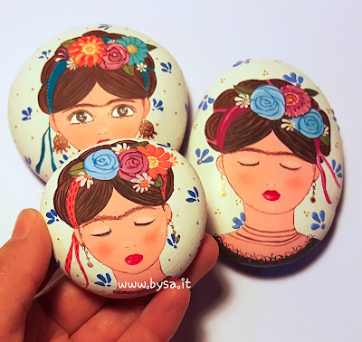 Frida Kahlo  dipinti  a mano ciondoli