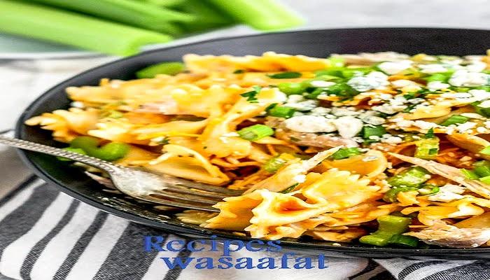 Mini cheese ravioli (buffalo chicken) salad