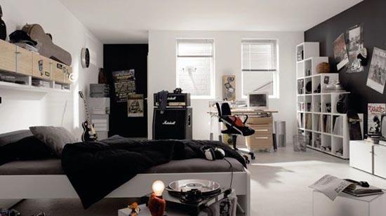 DORMITORIOS JUVENILES CON ACENTOS COLOR NEGRO | Dormitorios Con Estilo
