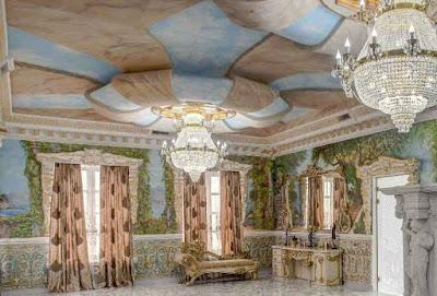 Роспись потолка художником - Декор потолка Москва