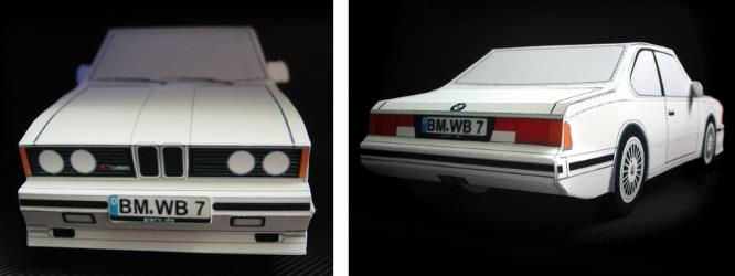 PAPERMAU: Easy-To-Build 1982`s BMW Alpina WB7 Paper Model - by JMV