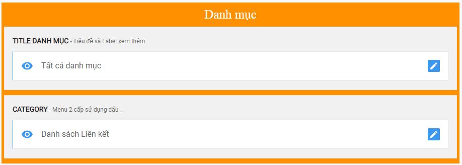 Giao diện blog MiniMart bán hàng