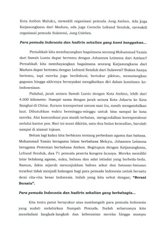 Sambutan Menpora / Pidato Peringatan Hari Sumpah Pemuda Ke 89 Tahun 2017