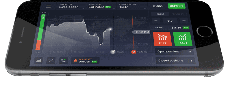 review mobile iq option