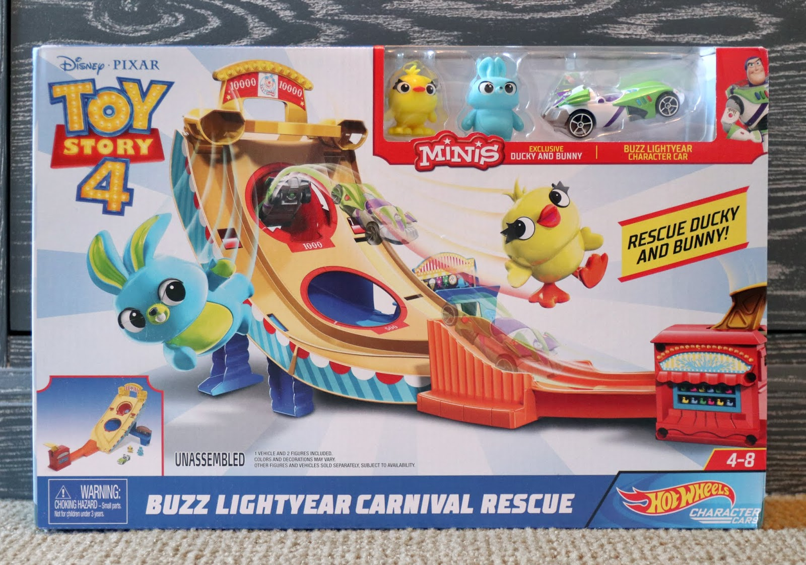 toy story HOT WHEELS BUZZ LIGHTYEAR CARNIVAL RESCUE TRACK SET