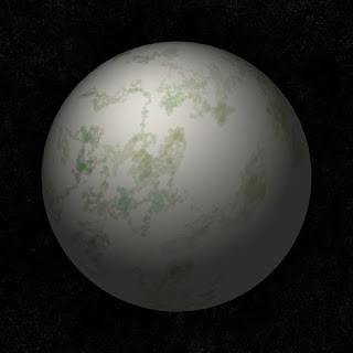 The green planet made with a code in this article.