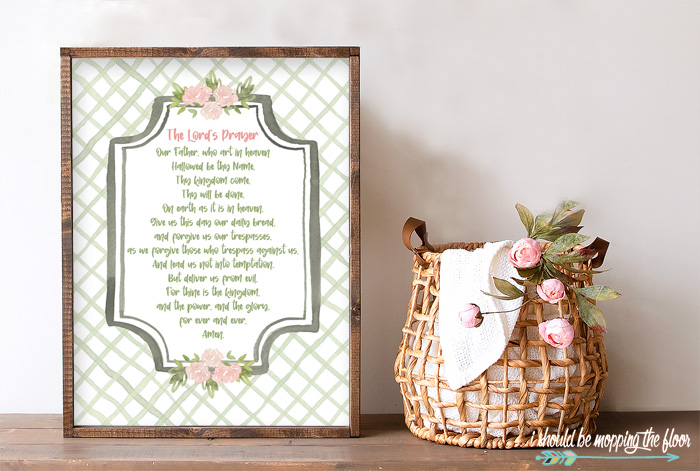Free Lord's Prayer Printable