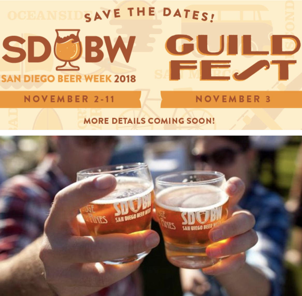 Don't miss San Diego Beer Week 2018 - November 2-11!
