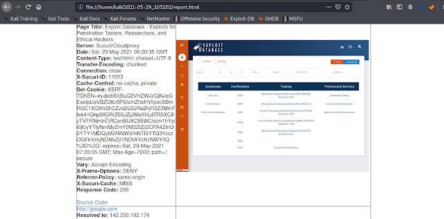 Informes de testigos presenciales en formato HTML