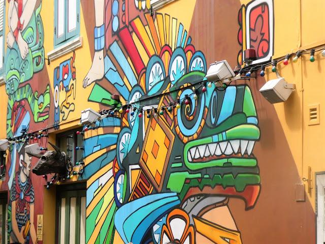 Coola väggmålningar i Singapore