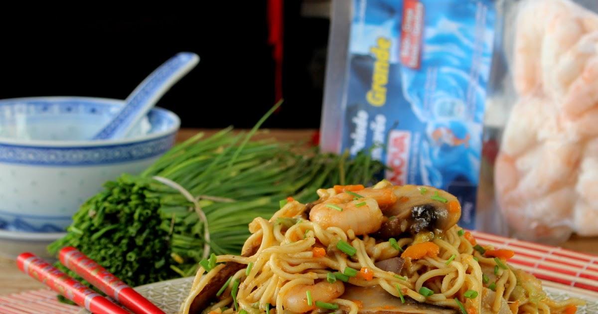 N rwen 39 s cuisine chow mein r pido de camar o e legumes for Gazelle cuisine n 13
