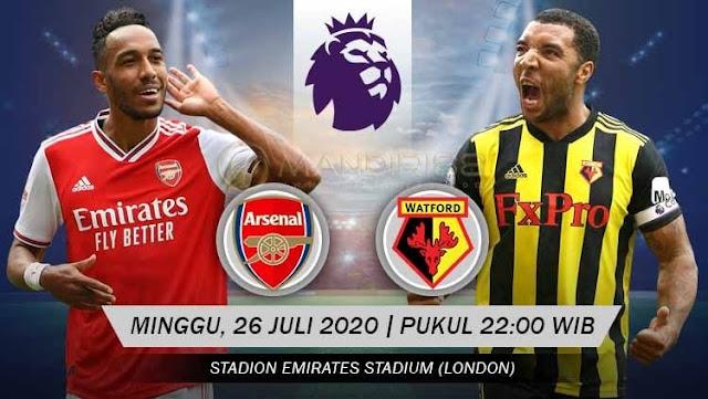 Prediksi Arsenal Vs Watford, Minggu 26 Juli 2020 Pukul 22.00 WIB
