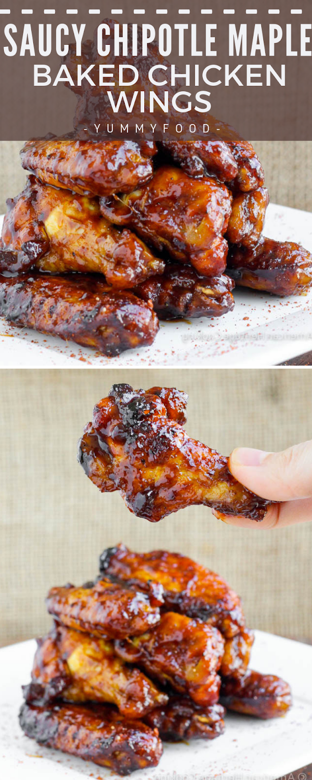 Saucy Chipotle Maple Baked Poultry Wings