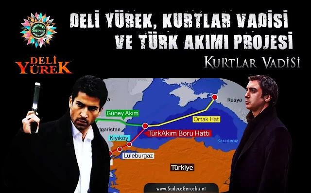 Deli Yürek, Kurtlar Vadisi ve Türk Akımı Doğalgaz Projesi