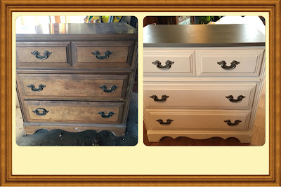 #millsnewhouse Dresser to nightstand chalk paint project