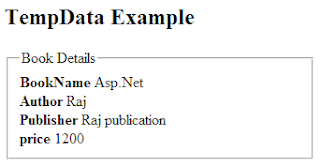 TempData output example to pass data