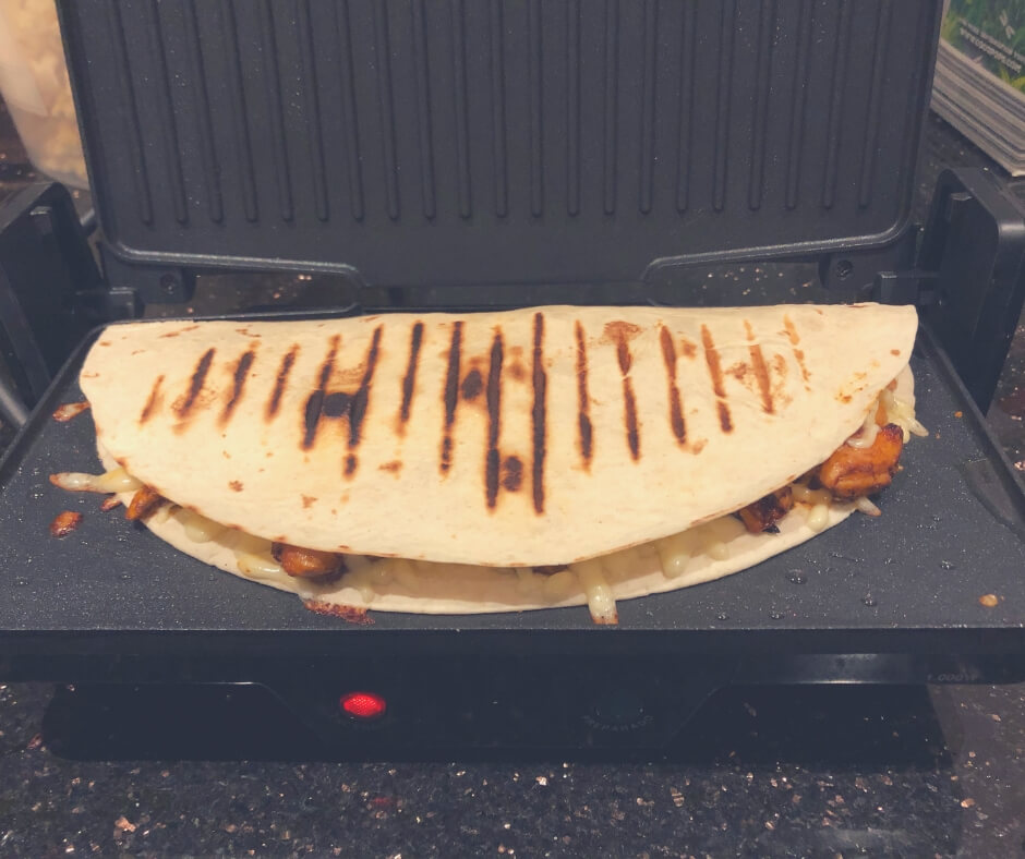 Taking Care Of My Family And Myself | Cooking quesadillas is surprisingly easy with this grill.