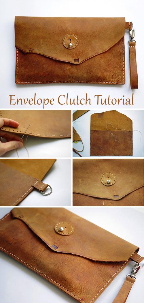 Make a DIY Envelope Clutch. Tutorial