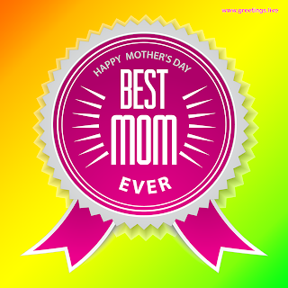Happy mothers day Best mom ever badge,sticker