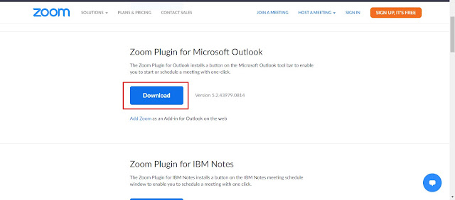 Download Zoom Microsoft Outlook Plugin