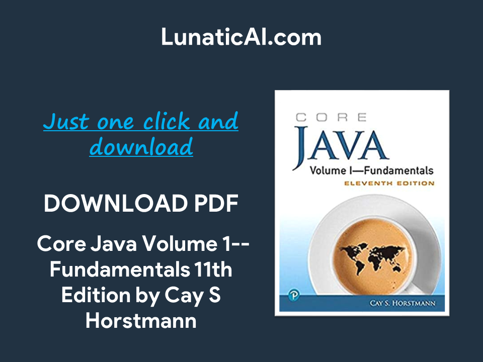 core java volume i—fundamentals, eleventh edition pdf free download