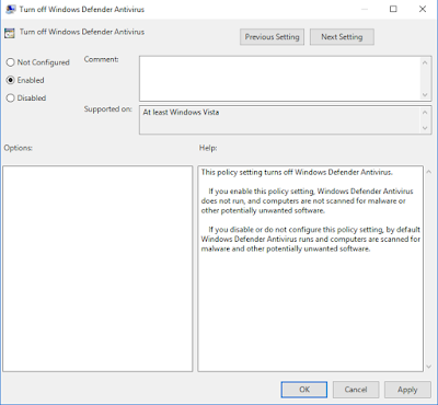 Cara Disable Windows Defender Dengan Mudah