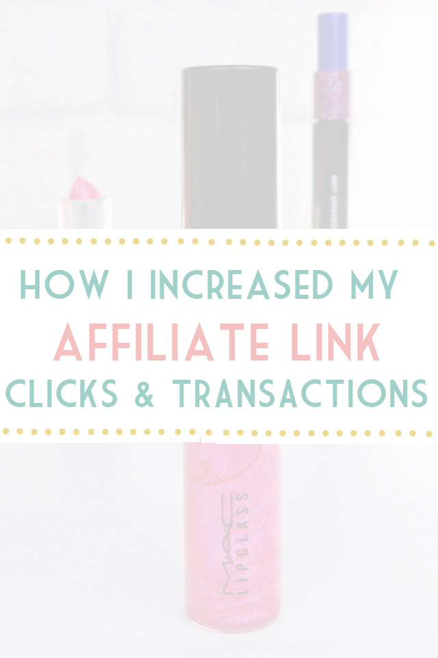 Increasing affiliate clicks transactions and commission