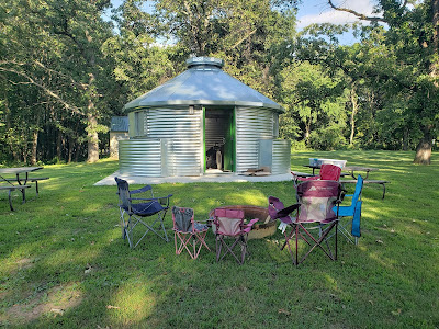 Camping at Sheffield, Iowa's SafeT Home