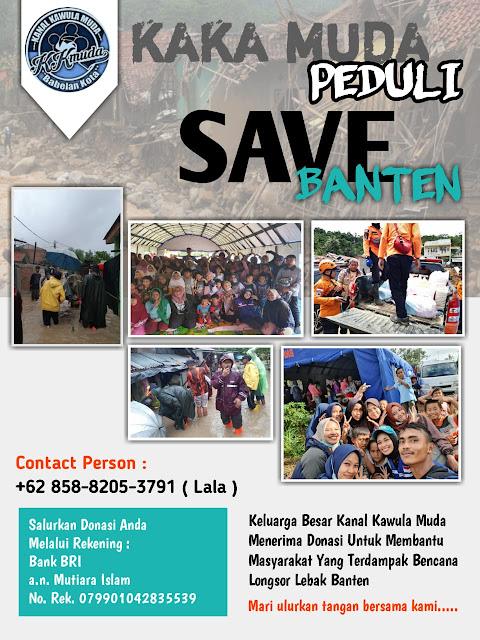 Kanal Kawula Muda Babelan Kota Galang Donasi Solidaritas Banjir Bandang Lebak Banten