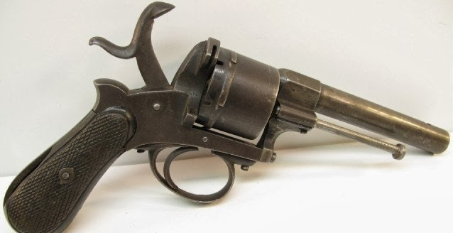 Belgium Pin Fire Revolver 11mm