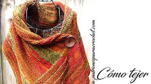 Bufanda con Botón a Crochet / Paso a paso