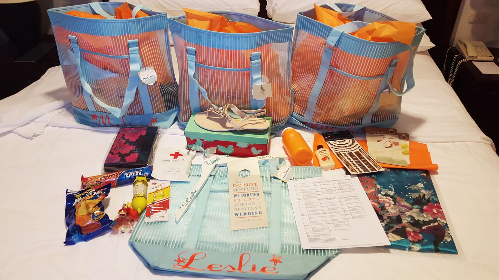 Wedding Series: Destination Wedding Bridesmaid Gift Bags