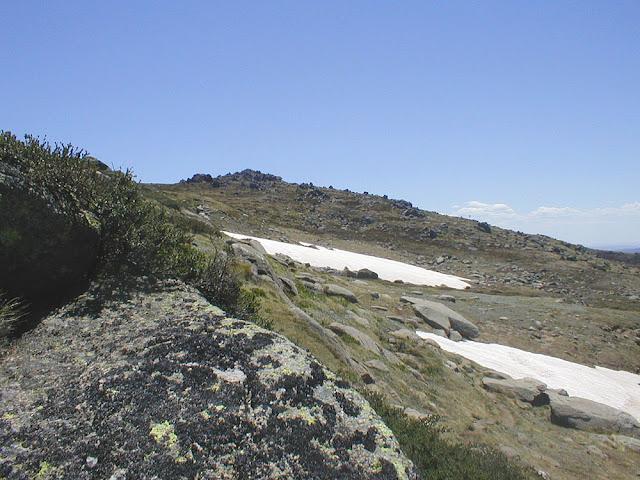 Snow patches on Mount Kosciuszko. Australia. Photo by Loire Valley Time Travel.
