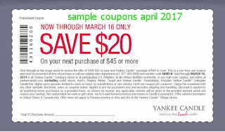 Yankee Candle coupons april