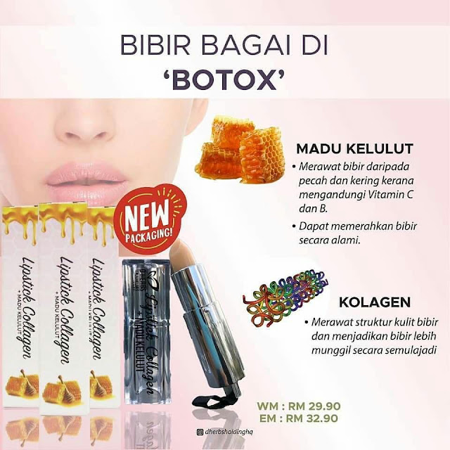 Lipstick Collagen + Madu Kelulut