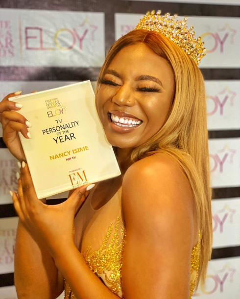 Nancy Isime bags TV personality of the year at Eloy Awards