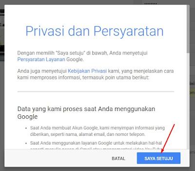 Privasi dan Persyaratan