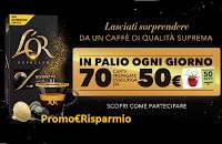 Logo Concorso L'Or Espresso : come vincere 1050 Gift Card Esselunga da 50 euro