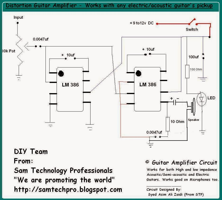 Acoustic Guitar Preamp Schematic